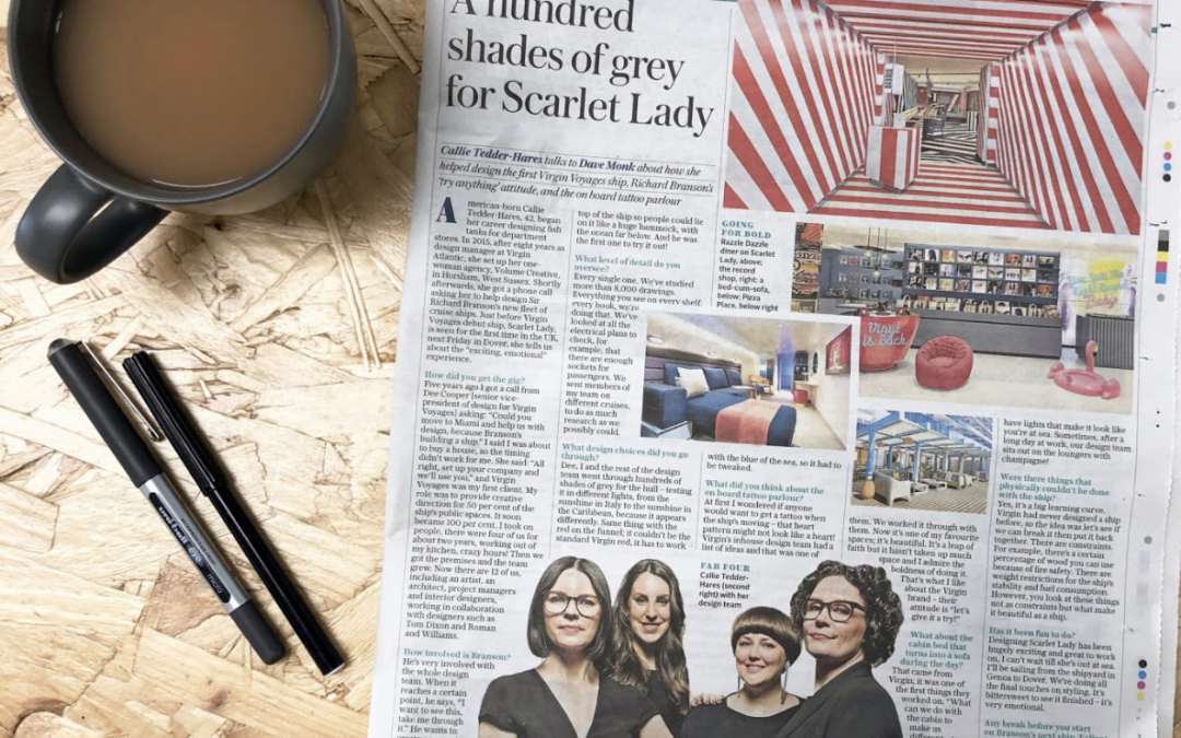 THE DAILY TELEGRAPH THE SCARLET LADYFebruary 2020PROJECT: Virgin Voyages