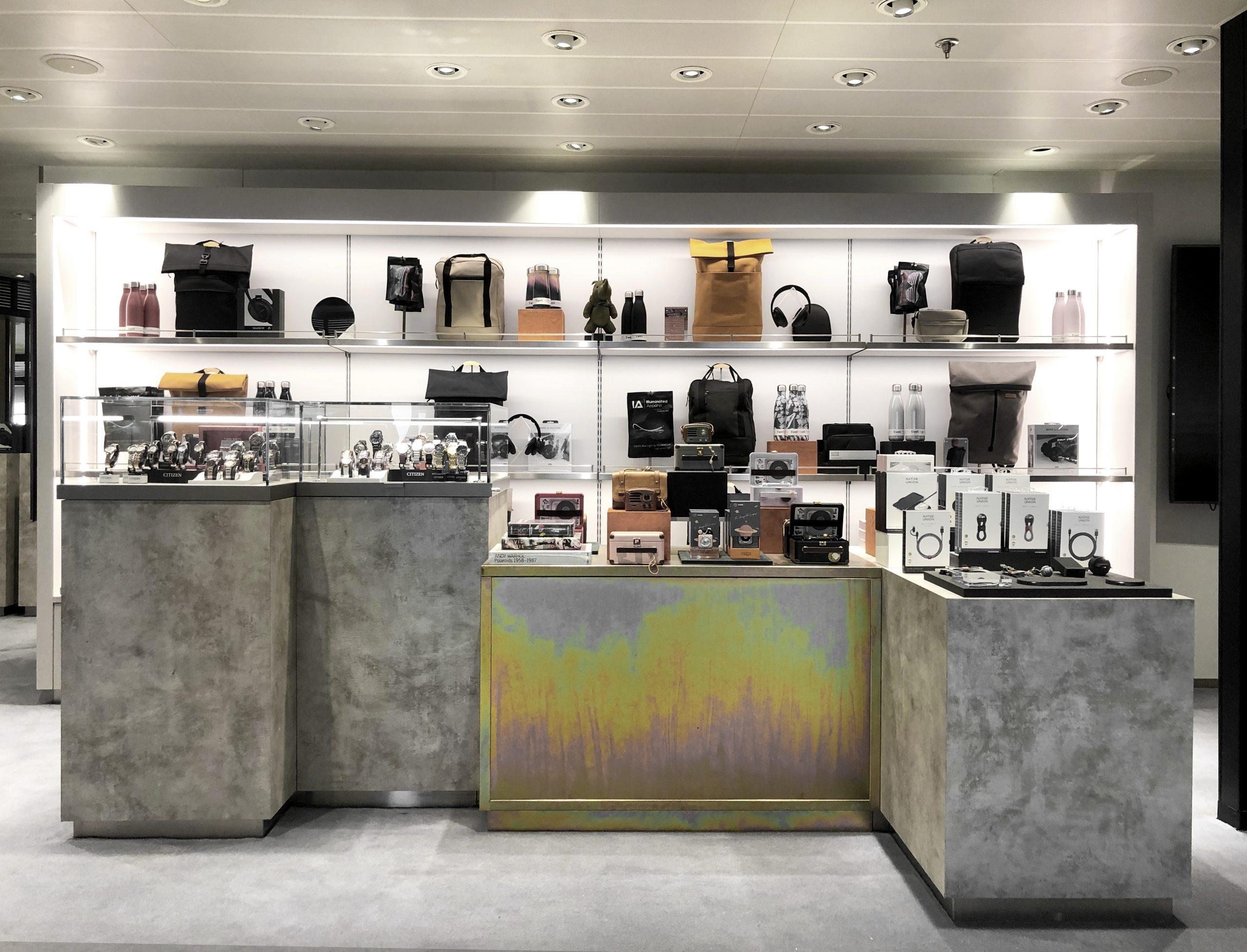 interior design retail on cruise ship